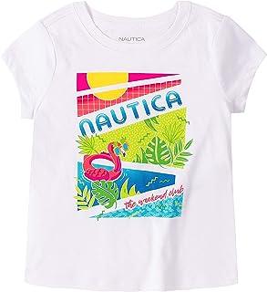 Nautica 诺帝卡女童短袖图案 T 恤