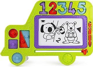 Boley Roo Crew 校车涂鸦板 – 12 件磁性绘图板书写平板套装 适合 3 岁以上儿童