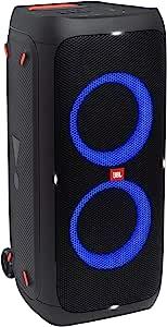 JBL PartyBox 310带灯光效果的便携式和可滚动蓝牙派对扬声器-防溅,带电池的移动音箱-黑色