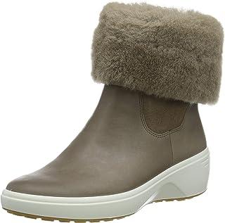 ECCO 女士 Soft 7 坡跟 Tred Chelsea 靴子