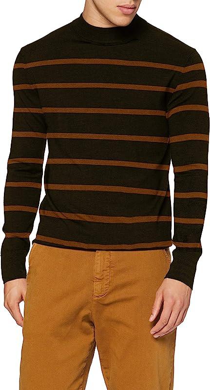 Scotch & Soda 100%美利奴羊毛 男式半高领针织衫毛衣 158592 M码¥324.52