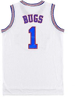 青年篮球运动衫 Bugs #1 LOLA #10 兔子太空电影运动衫儿童篮球衬衫派对白色/黑色
