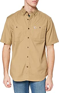 Carhartt 男式 Rugged Flex Rigby 短袖工作衬衫