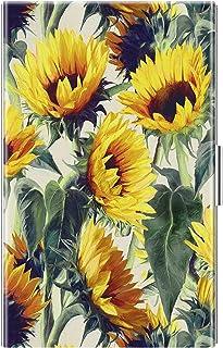 名片夹,Fintie 高级人造皮革涂层不锈钢专业超薄名片盒 男女皆宜 向日葵