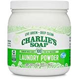 Charlie's Soap 洗衣粉 100 个装罐 - 可填充环保无香料,低致敏性深层清洁洗衣粉 - 可生物降解洗衣剂…