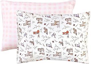 Hudson Baby 中性款婴幼儿棉质幼儿枕套,魔法森林,均码