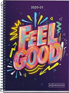 刚性学校日记加螺旋155x213 毫米日记2020 Feel Good Miquelrius Catalan 丁香色