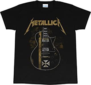 Metallica Hetfield 铁十字勋章 女士男友风 T 恤,官方商品 | 礼物创意 适合她,乐队,Merch,金属音乐