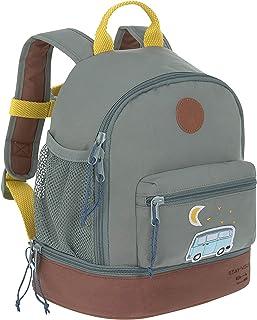 LÄSSIG 儿童背包带胸带,幼儿园背包/迷你背包,Adventure 蓝色 27 cm