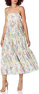 C/Meo Collective 女士套装无袖方形领多层中长连衣裙
