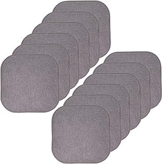 Sweet Home 系列防滑橡胶靠背圆形方形 40.64 厘米 x 40.64 厘米 座套 Alexis Gray/Silver 12 包 CPMF-12PK-ALEXIS-GRY/SIL