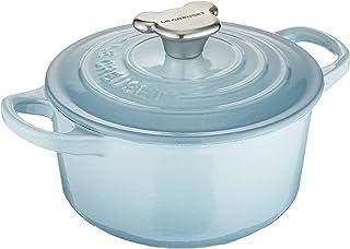 Le Creuset 酷彩 搪瓷铸铁锅 炖锅 小熊把手 14厘米 海岸蓝色 可使用燃气IH烤箱