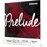 D'Addario Prelude 小提琴琴弦套装,4/4 比例中等张力 - 实心钢芯,暖色调,经济耐用 - 教育家对学…