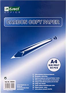D.RECT 复写纸 适用于手写 DIN A4 CARBON COPY PAPER 蓝色 50 张