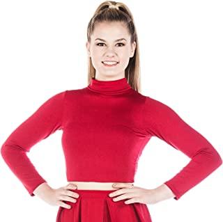 Danzcue 女式啦队基本款紧身衣上衣运动装紧身衣