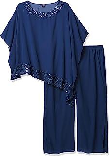 Le Bos 女士加大码长裤套装,如图所示,24W