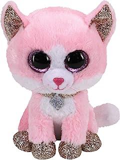 TY 2007516 Fiona Cat Beanie Boo 粉色毛绒玩具,多色