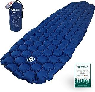 ECOTEK Outdoors Hybern8 超轻充气睡垫 适用于远足背包和露营 - 波状 FlexCell 设计 - 非常适合睡袋和吊床