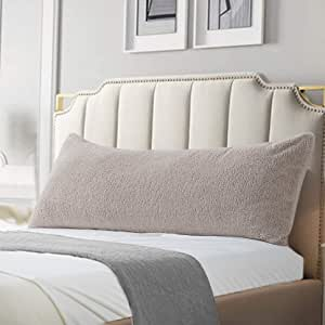 """Reafort 超柔软夏尔巴物品 灰褐色 21""""X54"""" Pillow Cover"""
