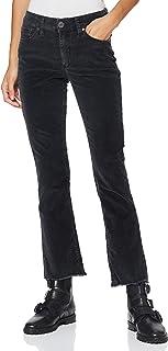 华丽的女士 Super G 靴子 Cropped Cord 弹力裤