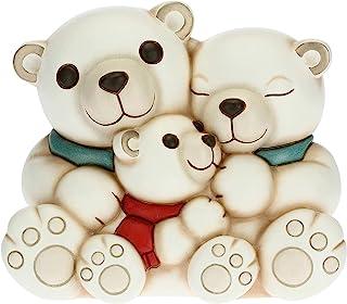 THUN – 北极熊装饰家庭-收藏配件-线快乐想法-中号尺寸-陶瓷-17.8 x 12.4 x 14.8厘米