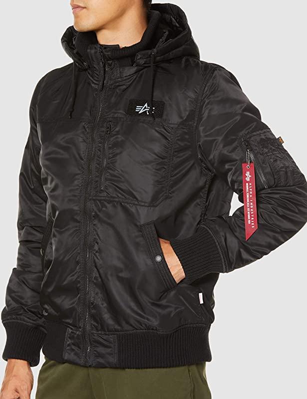 Alpha Industries 阿尔法  HOODEDRIB 男式飞行员连帽保暖夹克 M码镇店之宝¥619.93