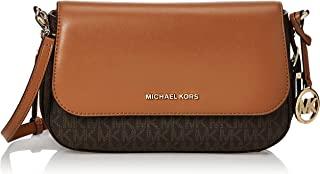 Michael Kors 迈克高仕 Bedford Legacy Logo 女士大号香草/橡果皮革斜挎包
