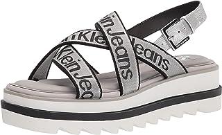Calvin Klein 女士 Cove 坡跟凉鞋