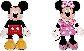 米老鼠毛绒玩具 - 大号 - 25 英寸和米妮毛绒玩具 - 粉色 - 大号 - 27 英寸组合套装