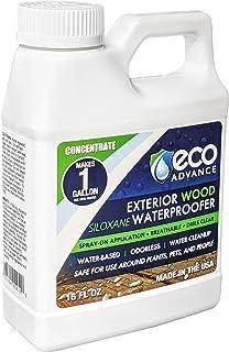 Eco Advance EAWOD16CON 453.59 毫升 外部木质硅胶防水液体浓缩液,白色但干燥透明