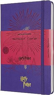 Moleskine 哈利波特限量版笔记本,硬封面,大号(12.7 厘米 x 21 厘米)横格/内衬,亮紫罗兰(5 册)240 页