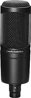 Audio Technica 铁三角 电容麦克风 AT2020 视频传输・家庭录音・播客・实况・DTM 黑色