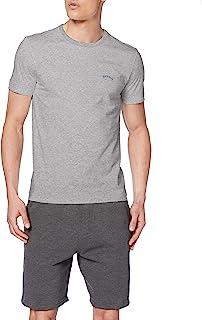 BOSS 男士 Tee Curved T 恤 棉质平纹针织 带弧形标志