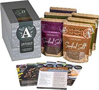 """SaltWorks 9.7"""" 对开式 黑色 Smoked Salt Gift Set 33.6 Ounce (Pack of 1)"""