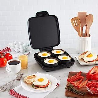 Dash DBBM900UP1 豪华 Sous Vide Style 家庭尺寸咬合机 4 英寸直径早餐三明治、蛋、煮蛋等,4 件套硅胶杯