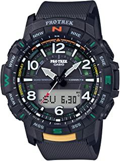 Casio 卡西欧 男式 Pro Trek 蓝牙连接石英运动手表,树脂表带,22.2 (型号:PRT-B50-1CR)