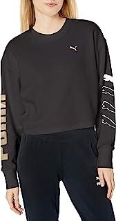 PUMA 女式宽松型 Rebel 圆领运动衫