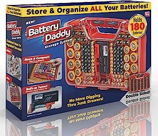 Ontel Battery Daddy,180 电池收纳盒,带测试仪