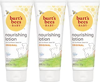 Burt's Bees 小蜜蜂 婴儿滋养乳液,原味,6盎司,170克,3瓶(包装可能有所不同)
