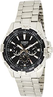 Casio 卡西欧 MTD1069D-1A2V 男式海洋运动不锈钢运动 100M 多功能显示手表