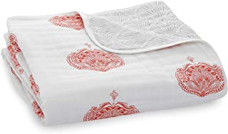 aden + anais Dream 毛毯,* 纯棉平纹细布,4 层轻质透气,大号 119.38 x 119.38 厘米 Paisley - Multi - Paisley Drop