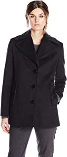 Calvin Klein Women's Single Breated Wool Coat