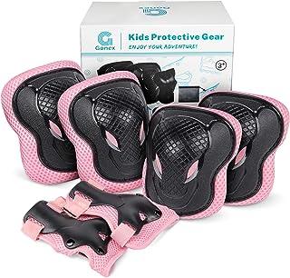 Gonex 儿童滑板护膝肘护腕,6 合 1 防护装备套装,适用于滑板、骑自行车、滑板车、自行车