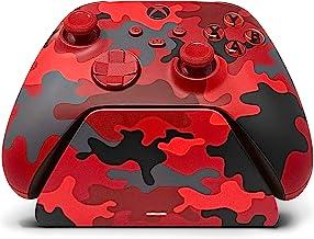 Controller Gear Daystrike Camo Universal Xbox Pro 充电支架,带 1100 Mah 可充电电池,充电底座,充电站,适用于 Xbox 系列 X|S 和 Xbox One - Xbox 系列 X