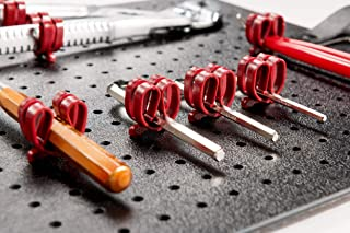 PARAT Basic 900008988 穿孔板工具夹子 20 件套 红色