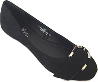 SHOES 18女式人造皮革芭蕾舞女芭蕾舞平底鞋 W/搭扣