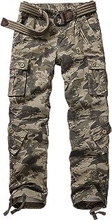 AKARMY 女式休闲防撕裂军工装裤,侧松紧腰,*战斗工装裤,带 8 个口袋