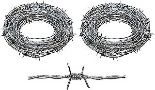 Real Barbed Wire 100 英尺(约 36.6 米)15.5 规格 4 点 – 非常适合工艺、栅栏和击球威慑剂