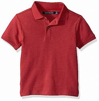 Calvin Klein 卡尔文·克莱恩 小男童 纯色珠地面料Polo衫