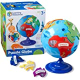 Learning Resources 拼图地球仪,3D地理拼图,可以发展精细运动,14件,适合3岁以上的人群